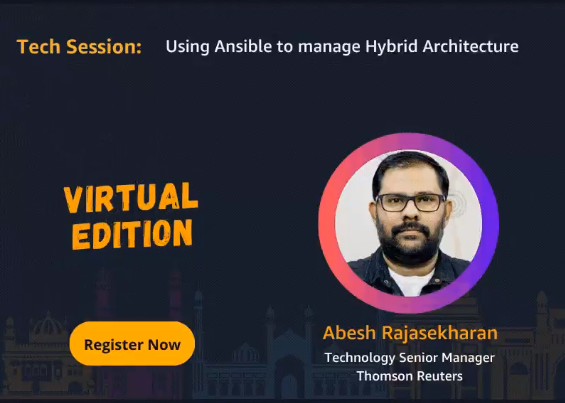 Know Your AWS Community Day India 2020 Speaker - Abesh Rajasekharan